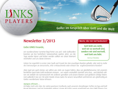 LINKS Players Newsletter 3-2013!